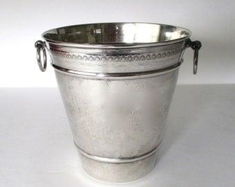 Antique 800 Silver Ice Bucket With Original Strainer