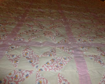 Antique  quilt all hand made and hand knotted