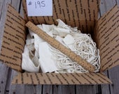 White leather scraps, Deerskin scraps, Craft leather scraps, Leather remnants