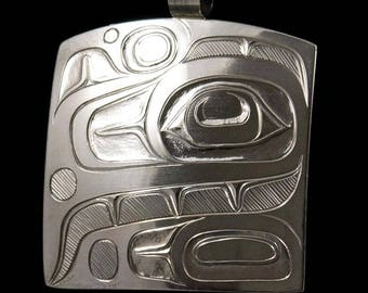 A Classic Old Style Eagle Pendant original designed,carved  and engraved by Terry Jackson