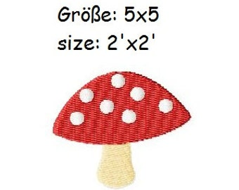 Embroidery Design Fly amanita 2'x2' - DIGITAL DOWNLOAD PRODUCT
