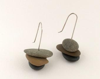 """Stone Earrings """"Nature Trio"""""""