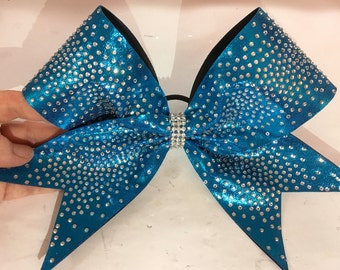 Rhinetone bow- Rhinestone ombre on Mystique
