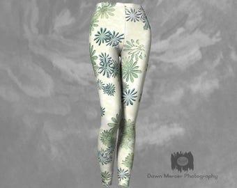 Floral Leggings Flower Leggings Tight leggings Floral Print Tights Designer Leggings Floral Workout Legging Flower Print Leggings And Tights