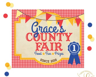 County Fair Welcome Sign | County Fair Party | Birthday Party | First Birthday | State Fair Party | Carnival Party | Carnival Sign
