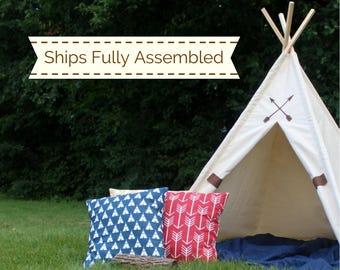 Friendship Teepee, READY TO SHIP, Can Include Window, Kids Tent, Play Tent, Fort, Playhouse, Teepee, Tee Pee Tent, Kids Teepee Tent