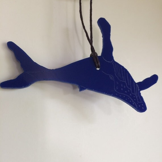 Whale Stained Glass Ornament Suncatcher Made in Hawaii Deesigns by Harris Free Gift Wrap
