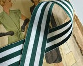 Green and White Striped R...