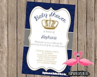 Prince Baby Shower Invite
