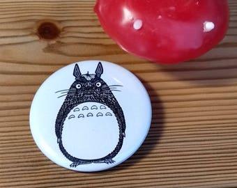 Totoro monochrome badge