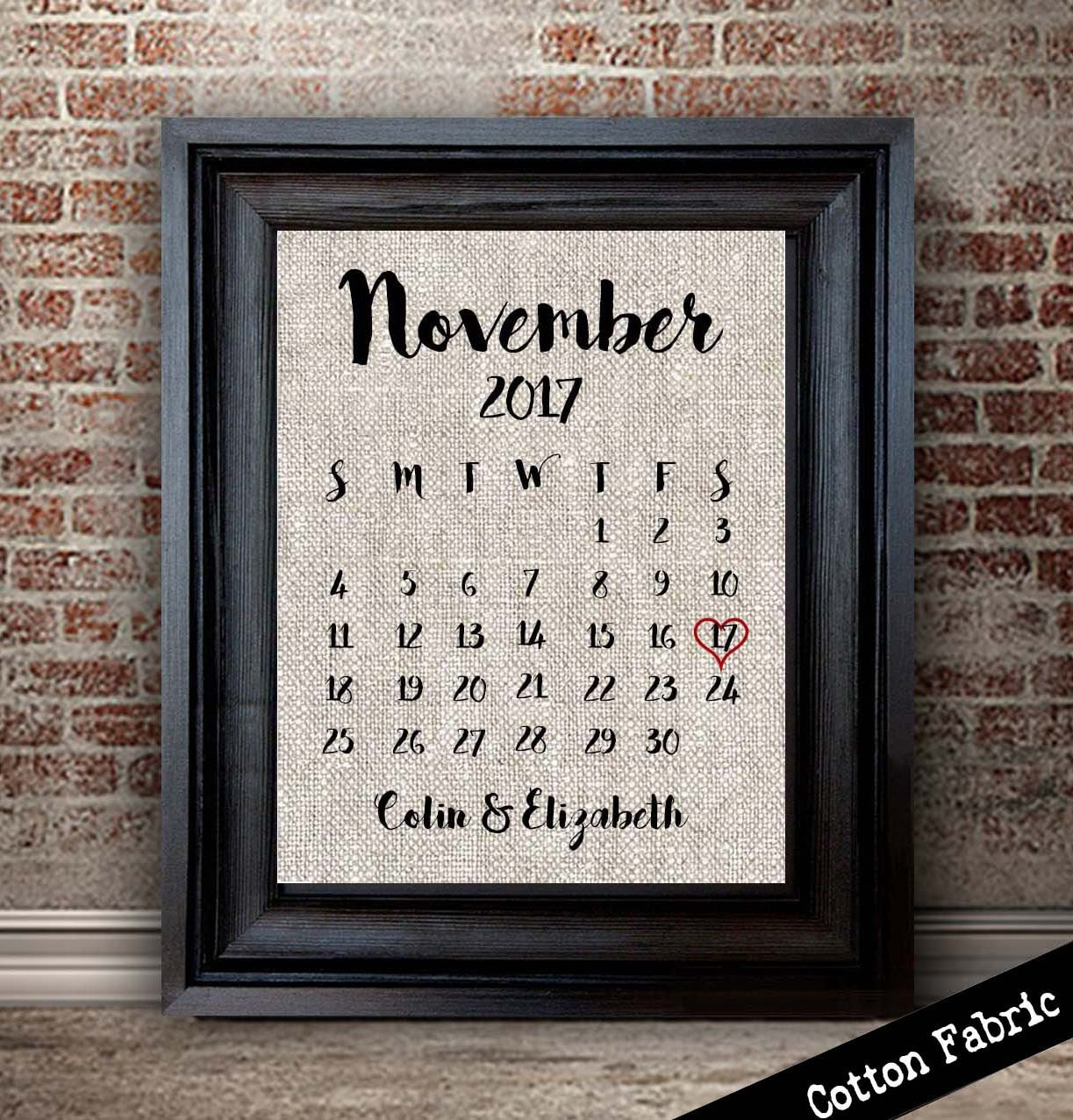 Cotton Wedding Anniversary Gift Ideas For Her: Cotton Anniversary Gift For Her Anniversary Calendar 2nd