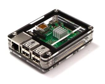 Zebra Case - Raspberry Pi 3, 2 and B+ (Black Ice) Includes Heatsinks
