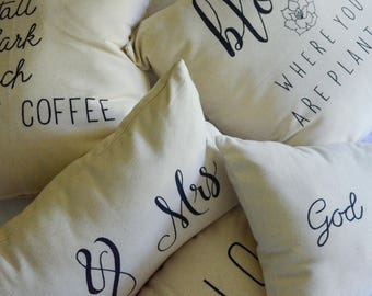 Custom Pillow   Personalized Pillow   Custom Gift   Home Decor   Housewarming Gift   Sentimental Gift   Decorative Pillow   Accent Throw