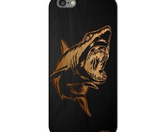 Black Bamboo Wood Case - Shark