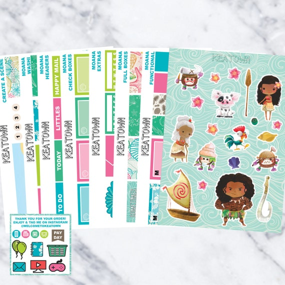 Disney Moana Calendar Planning Stickers