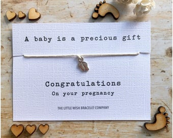 You're PREGNANT wish bracelet, pregnancy , mum to be, mummy, pregnant , congratulations gift, add a name & custom options