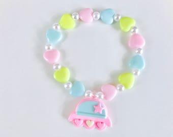 Pastel Alien Ship Kawaii Kandi Singular Bracelet