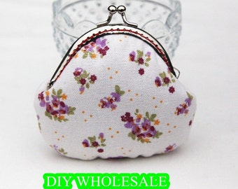 handmade vintage coin purse frame clutch frame purses flower pattern coin purse coin wallet pouch coin purse kiss lock frame purse bag