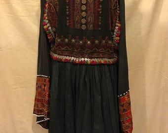 Kohistan noristan ethnic dress vintage asian tribal handmade dress unique dress