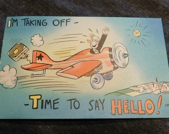Vintage Comic I'm Taking Off-Time To Say Hello! #109