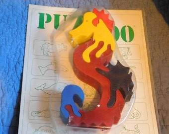 Puzzoo Wooden Seahorse Puzzle Made in Hungary