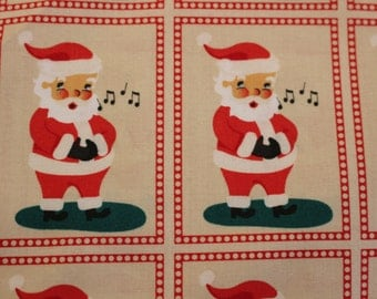 Moda Dear Mr. Claus Quilting Fabric from Cosmo Cricket Collection Sold by the Half Yard