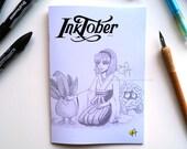 Inktober 2016 | Female Game Characters Art Book A5 Zine