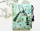 Waterproof wallet Chinoiserie print, makeup pouch.