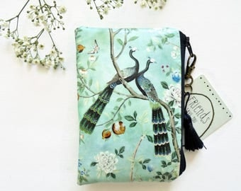 Waterproof Chinoiserie Print, Coin purse/card holder/business card/mudcloth