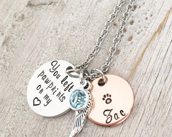 Pet Memorial Jewelry - Loss of a Dog Gifts - Loss of a Pet Necklace - Pet Memorial Gift - Dog Memorial Necklace - Loss of a Pet Gifts Dog