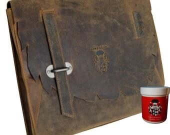 College case APANATSCHI of brown Western leather - BARON of MALTZAHN