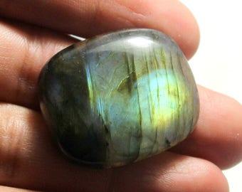 69 carat Natural Labradorite cabochon  Cabochon loose gemstone size 32 mm x 27 mm x 7 mm  approx 0093