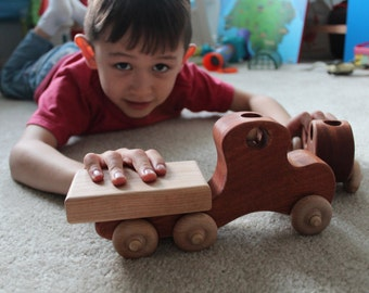 Handmade Wooden Kids Toy Truck