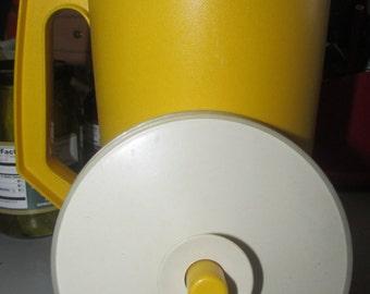 Vintage Tupperware 2 Quart Pitcher Yellow