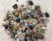 Misc stone chips jewelry making supply raw uncut untumbled quartz turquoise healing stones