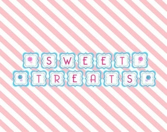 Sweet Shoppe Party Decorations Candy Shoppe Party Candyland Party Sweet Treats Banner Gumball Party Sweet Shop Banner Sweet Treats Party