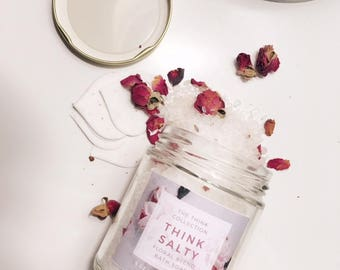 All Natural Floral Mineral Bath Soak (And Plant!)