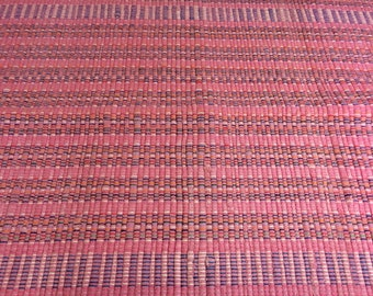 Woven Rag Rug Pink Vintage