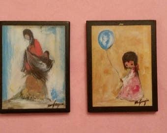 De Grazia Indian Girl Magnets 2 Pieces