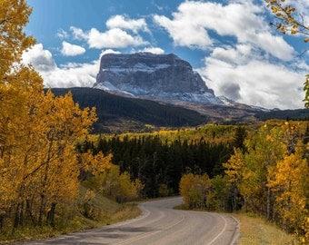 Montana, Glacier National Park Photograph, Lake McDonald Photography, Going to the Sun Road, Wall Decor, Chief Rock, Fine Art Print, Canvas