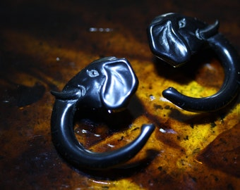 Precious Pachyderm  Plastic (Lucite) Post Earrings