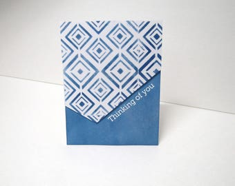 Handmade greeting card - Thinking of you - Just because card - Geometric - Gift for him - Gift for her