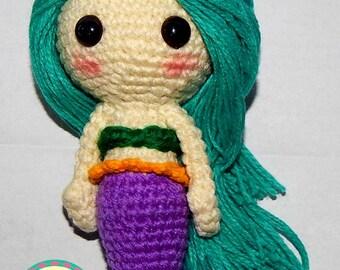 Handmade Mermaid Doll -  Crochet Mermaid
