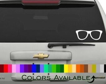 Nerd Glasses Car Decal