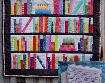 "BOOKENDS Mini Quilt Pattern     24"" x 24""  Easy Beginner Pattern    By: A Slice of π Quilts - Slice of Pi Quilts"