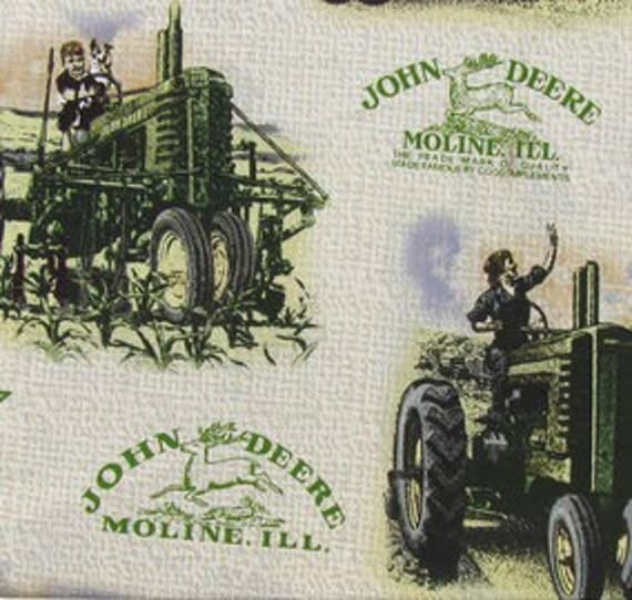 John Deere Home Decor : John deere vintage cotton quilting apparel crafts