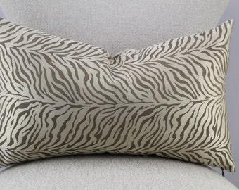 Designer animal pattern,lumbar pillow,pillow cover,decorative pillow,accent pillow,throw pillow,same fabric front and back.