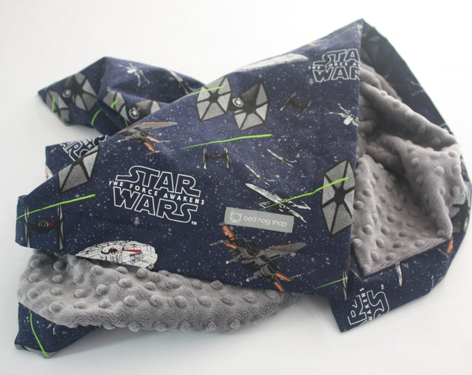 Star Wars Baby Blanket-The Force Awakens Ships-MTO