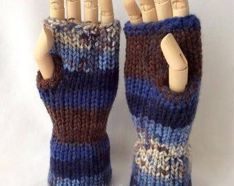 Forest Sky Fingerless Gloves