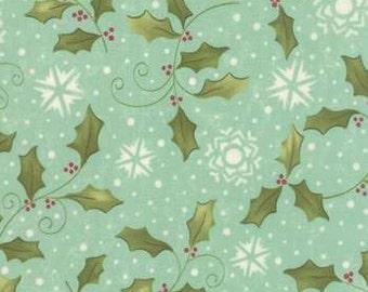 NEW! Moda Holly Aqua - Very Merry by Sandy Gervais  Yardage 17831 15